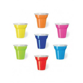 Bicchierini Plastica Colorati 50pz
